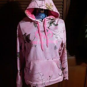 Pink camo realtree hoodie